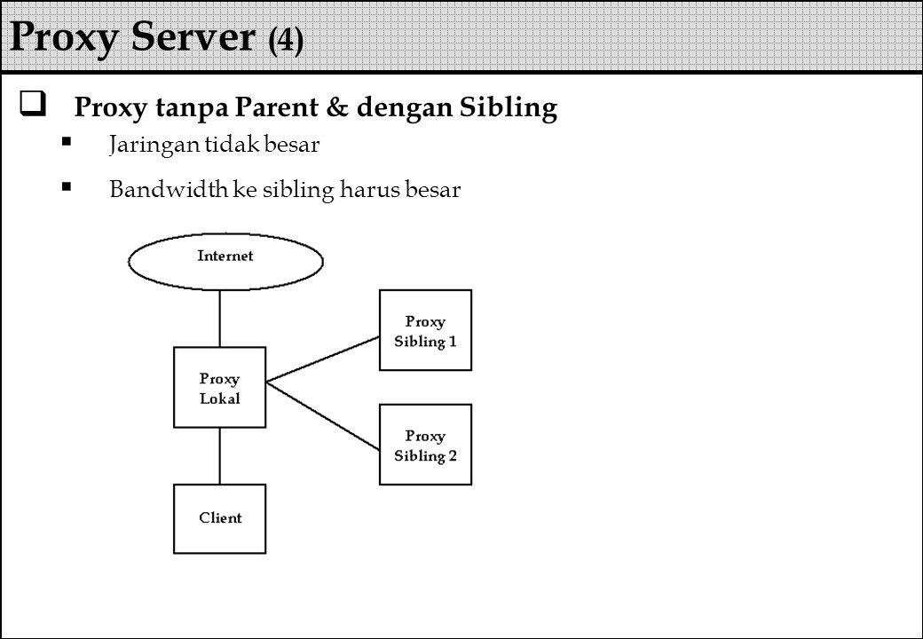 Proxy Server (4) Proxy tanpa Parent & dengan Sibling