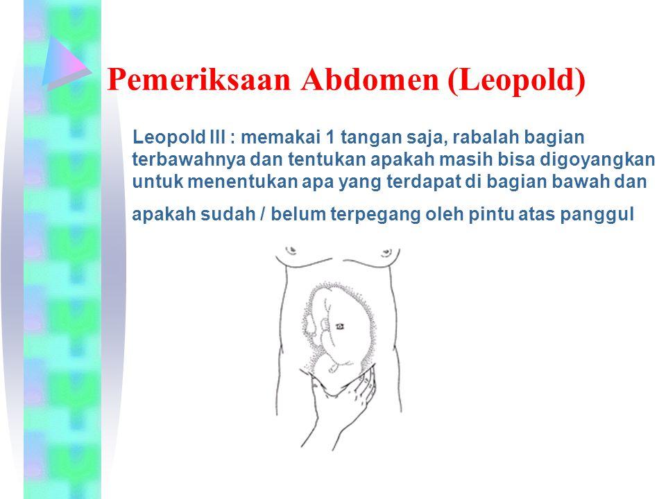 Pemeriksaan Abdomen (Leopold)