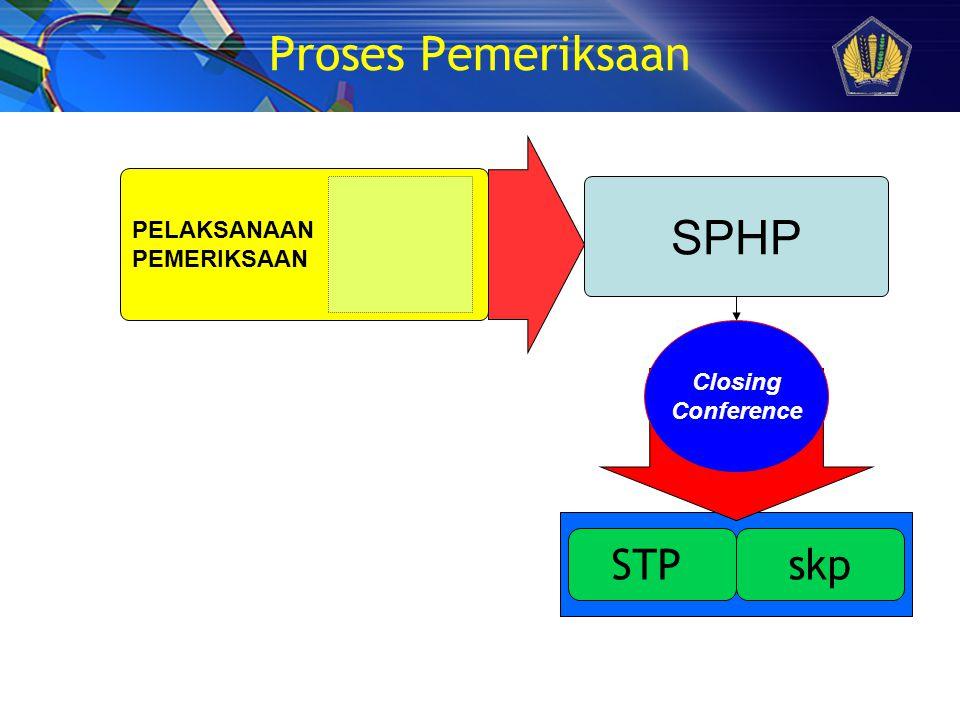 Proses Pemeriksaan SPHP STP skp PELAKSANAAN PEMERIKSAAN Closing
