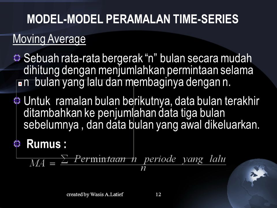 MODEL-MODEL PERAMALAN TIME-SERIES
