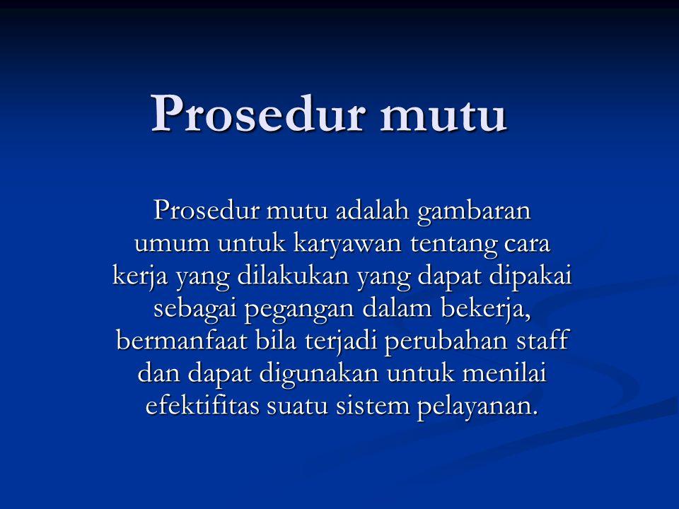 Prosedur mutu