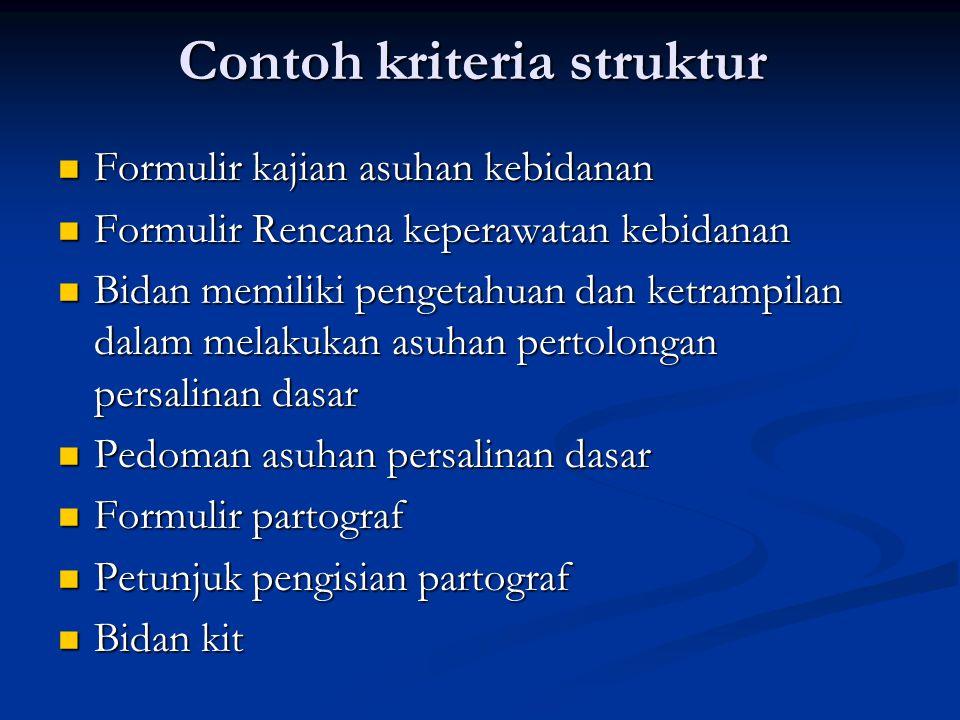 Contoh kriteria struktur