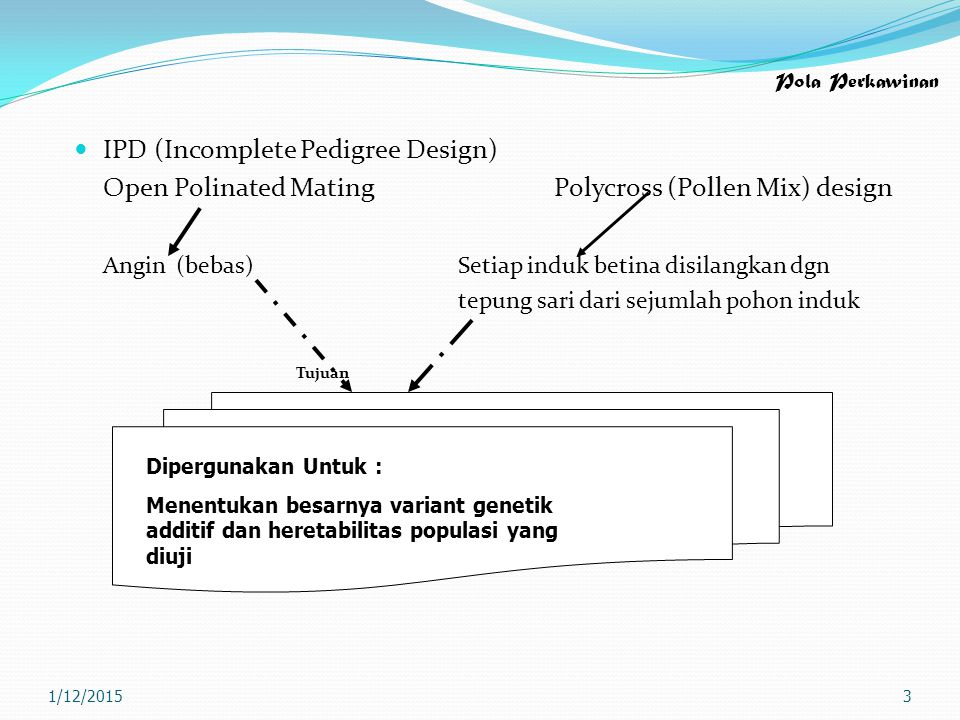 IPD (Incomplete Pedigree Design)