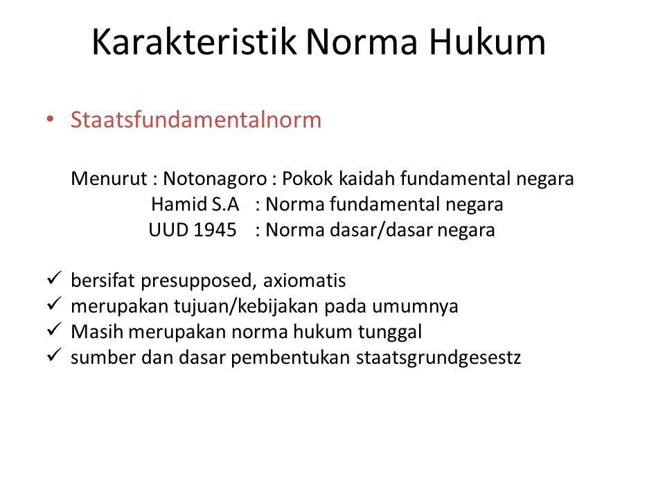 Karakteristik Norma Hukum