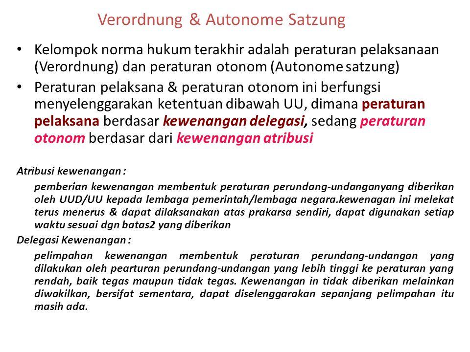 Verordnung & Autonome Satzung