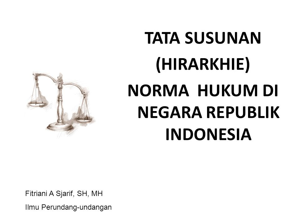 NORMA HUKUM DI NEGARA REPUBLIK INDONESIA