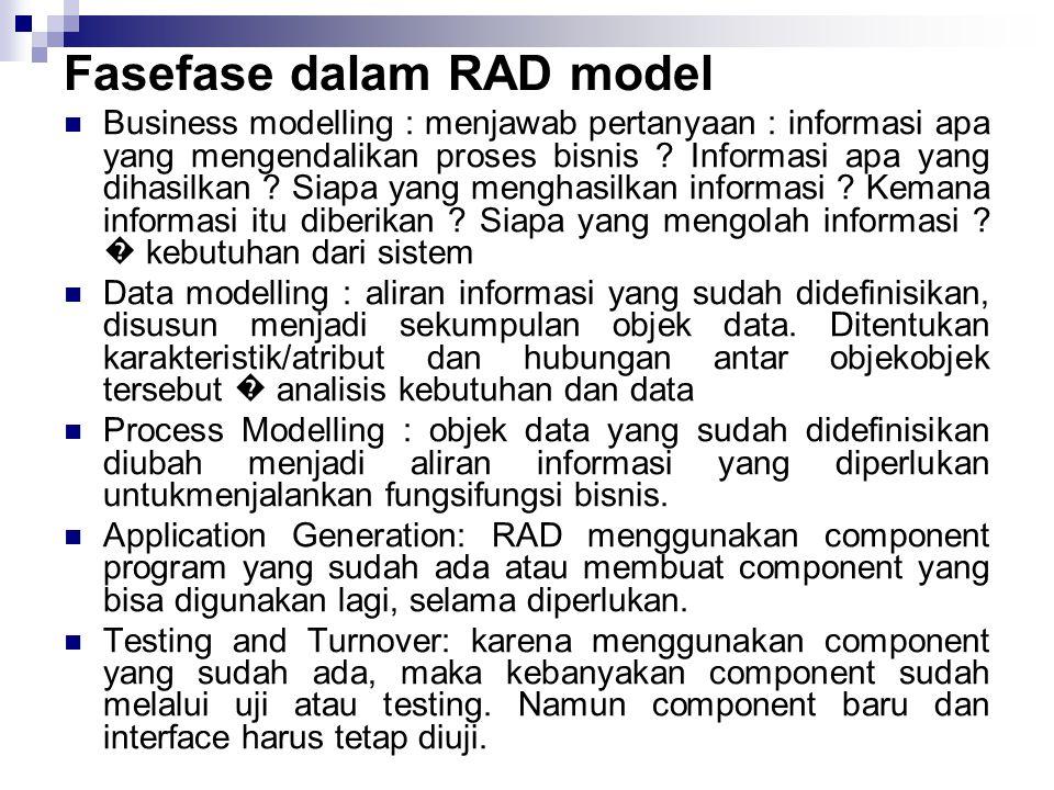Fasefase dalam RAD model