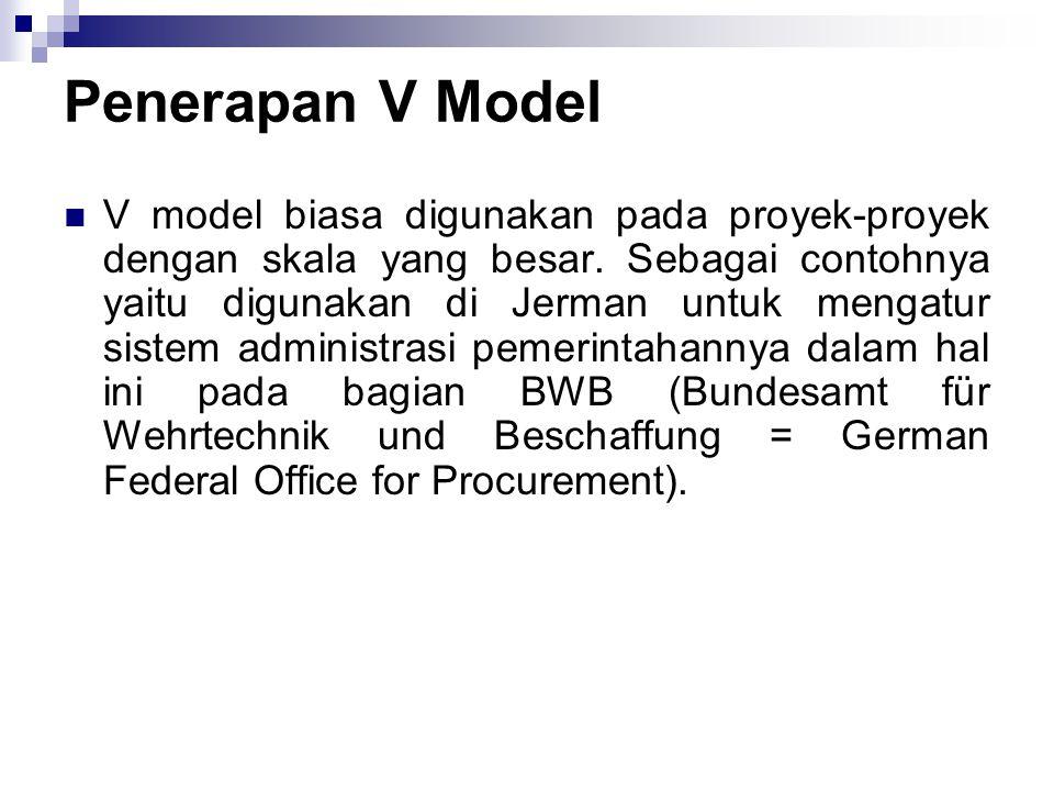 Penerapan V Model