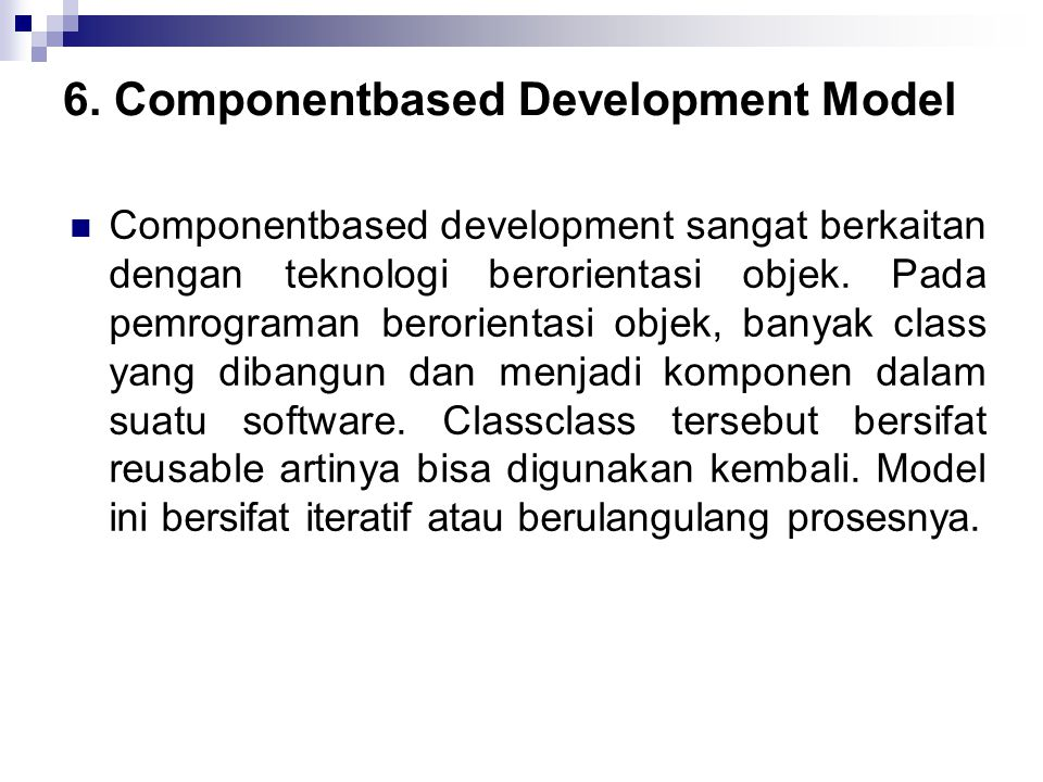 6. Component­based Development Model