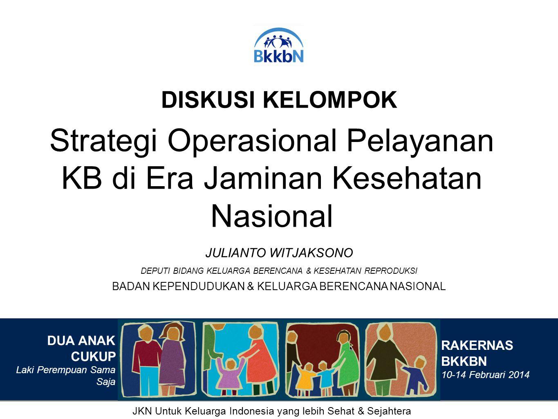 Strategi Operasional Pelayanan KB di Era Jaminan Kesehatan Nasional