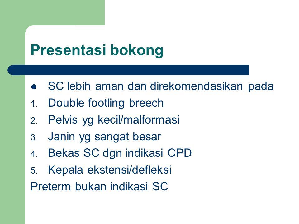 Presentasi bokong SC lebih aman dan direkomendasikan pada