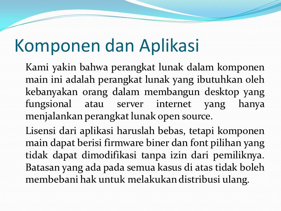 Komponen dan Aplikasi
