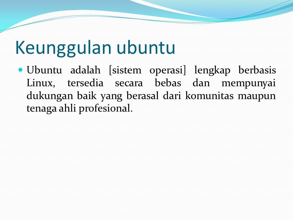 Keunggulan ubuntu