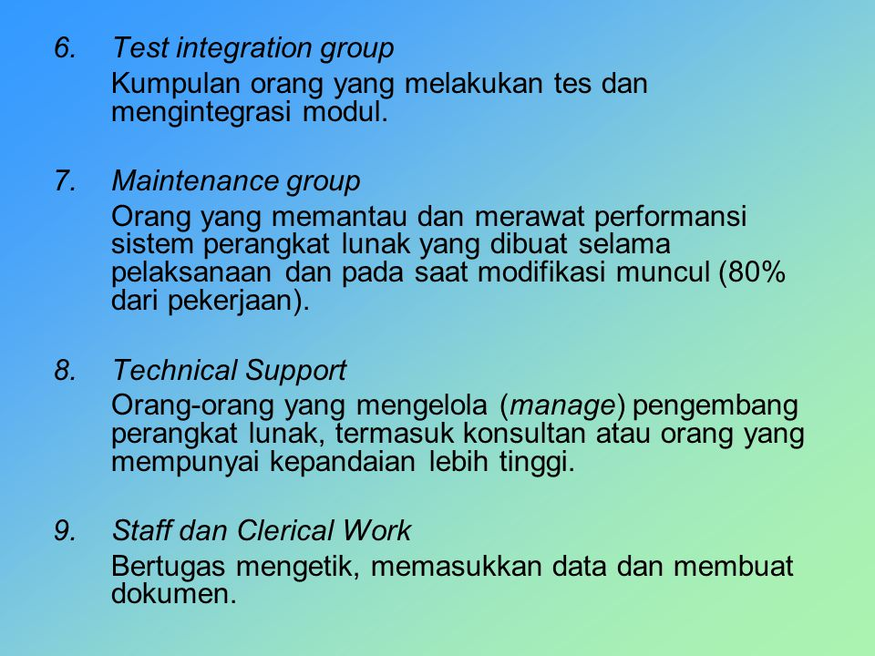 Test integration group