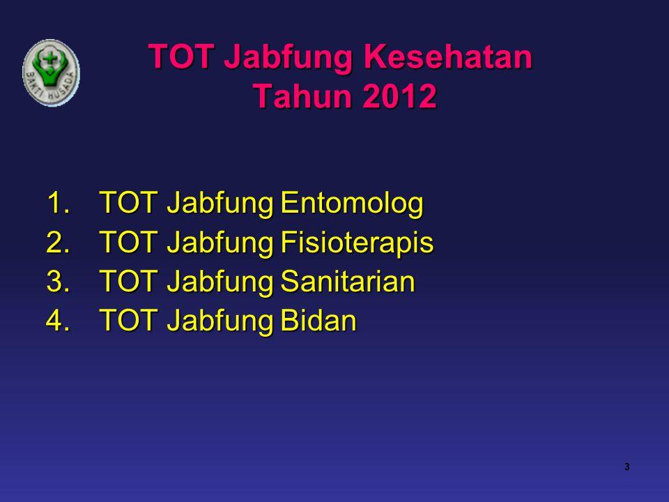 TOT Jabfung Kesehatan Tahun 2012