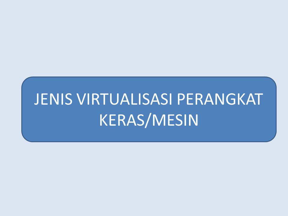 JENIS VIRTUALISASI PERANGKAT KERAS/MESIN