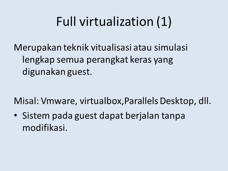 Full virtualization (1)