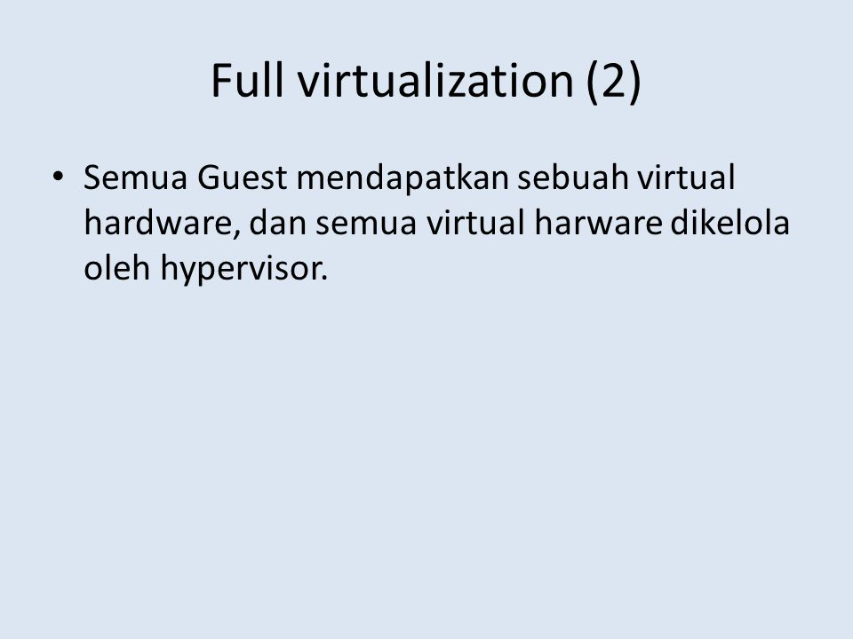 Full virtualization (2)