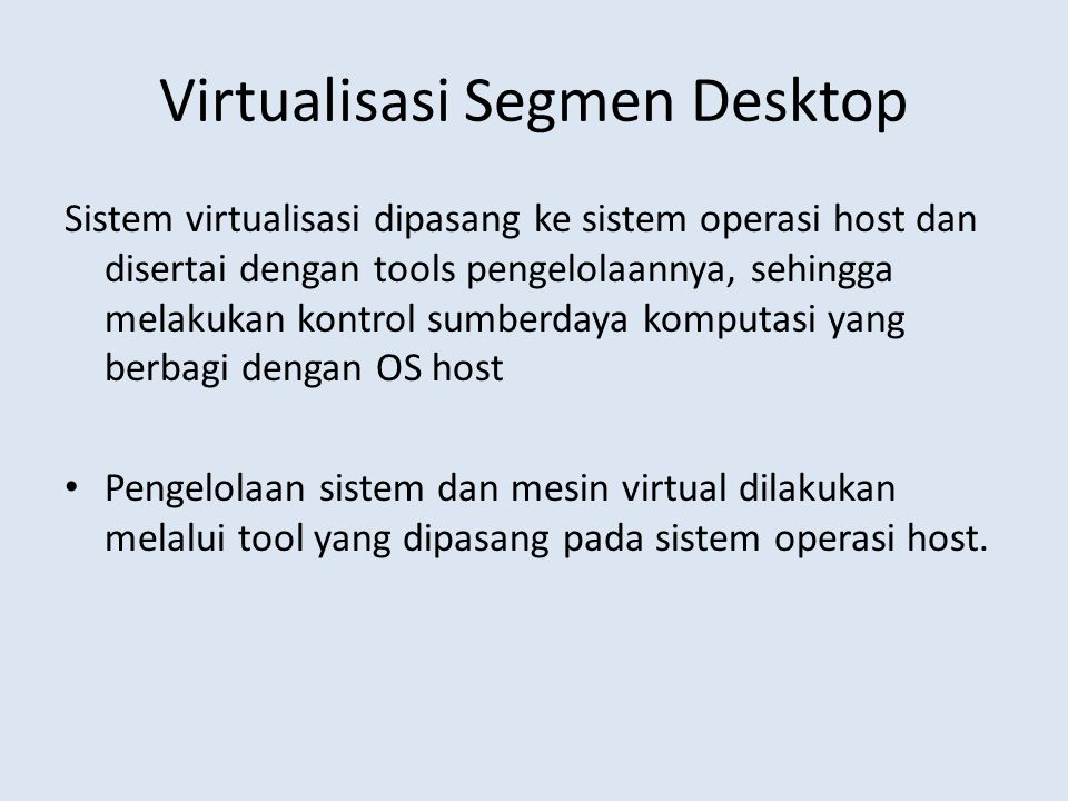 Virtualisasi Segmen Desktop