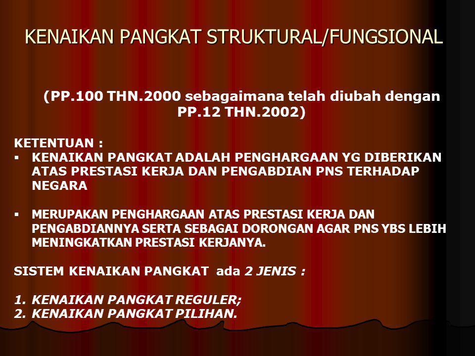 KENAIKAN PANGKAT STRUKTURAL/FUNGSIONAL