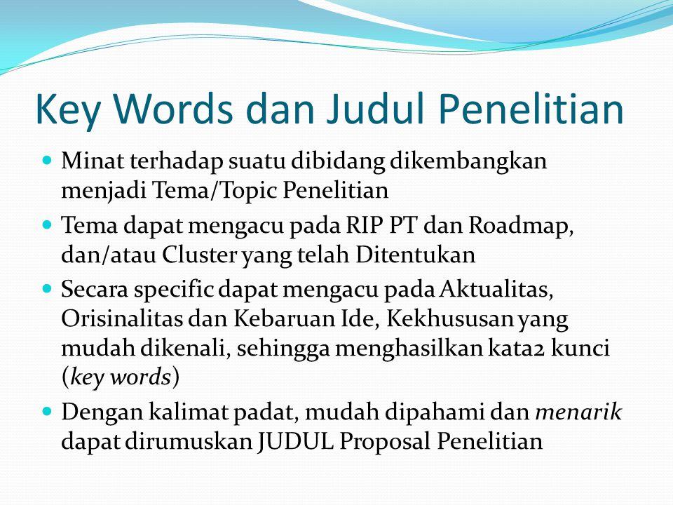 Key Words dan Judul Penelitian