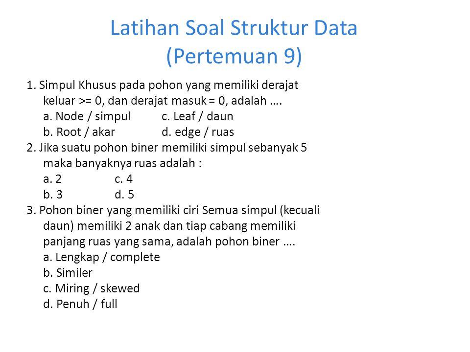 Latihan Soal Struktur Data (Pertemuan 9)