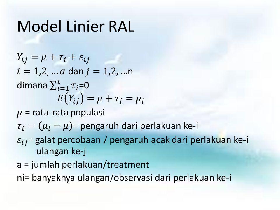 Model Linier RAL