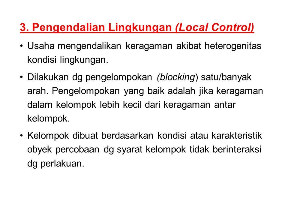 3. Pengendalian Lingkungan (Local Control)