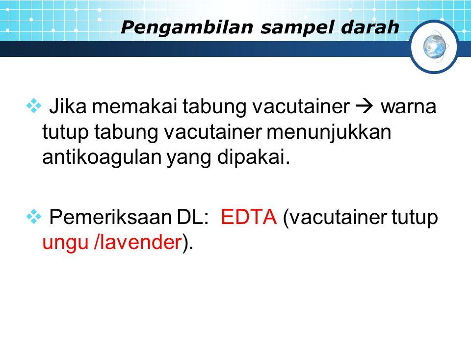 Pengambilan sampel darah