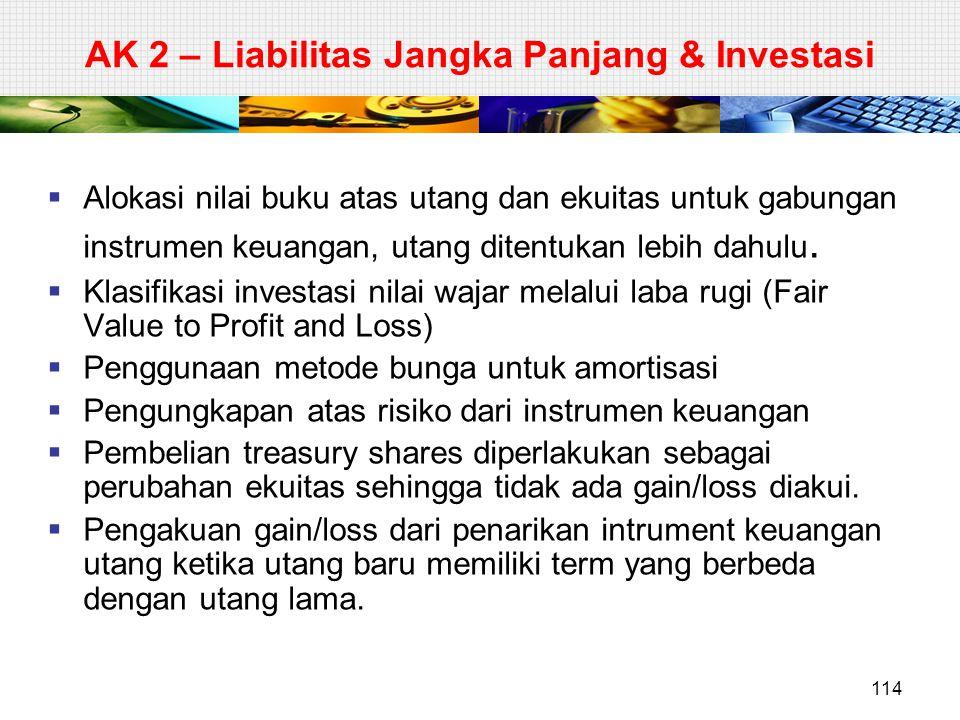 AK 2 – Liabilitas Jangka Panjang & Investasi
