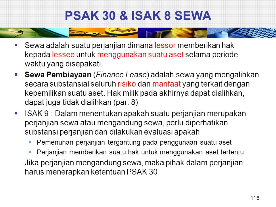 PSAK 30 & ISAK 8 SEWA