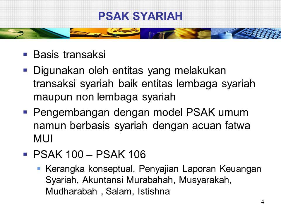 PSAK SYARIAH Basis transaksi