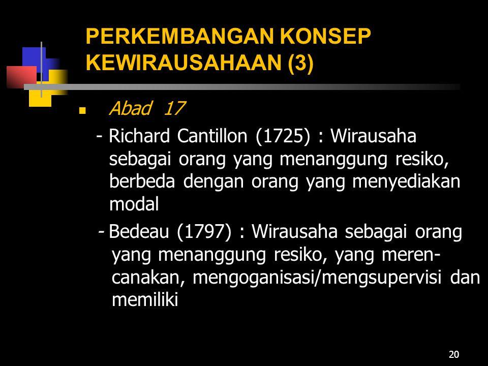PERKEMBANGAN KONSEP KEWIRAUSAHAAN (3)