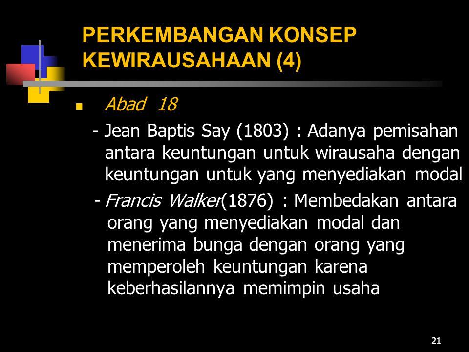 PERKEMBANGAN KONSEP KEWIRAUSAHAAN (4)