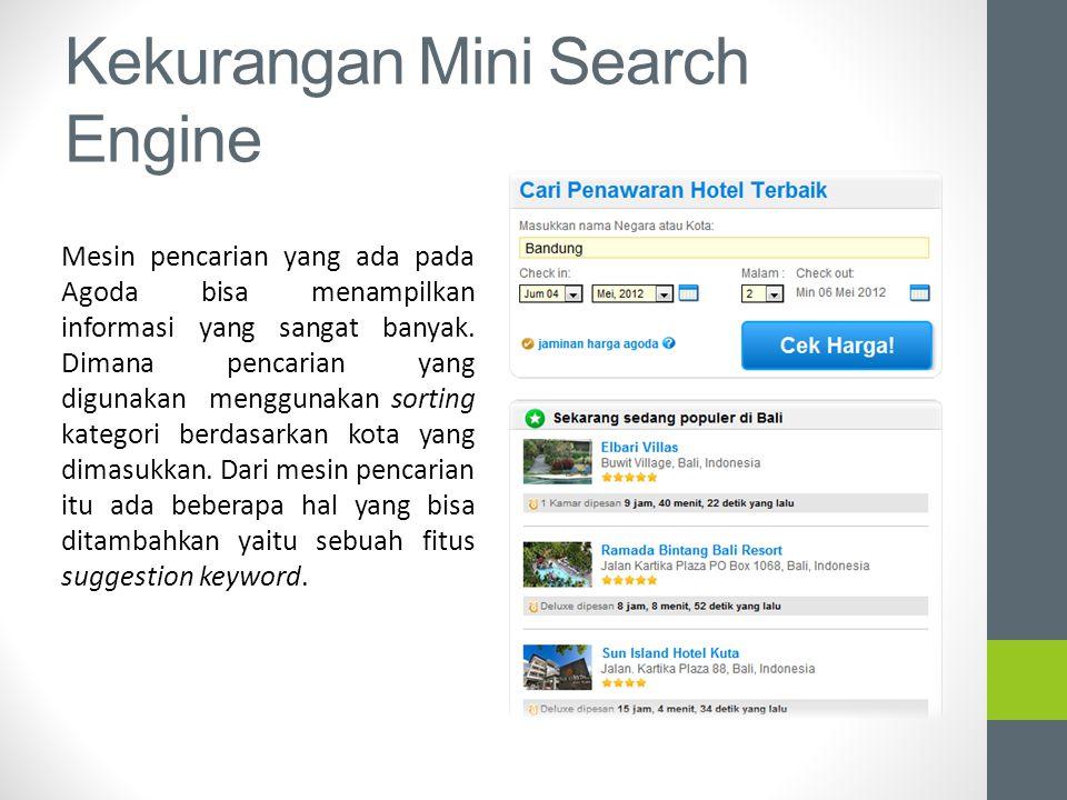 Kekurangan Mini Search Engine