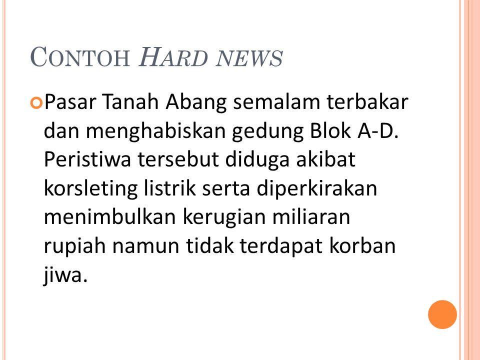 Contoh Hard news
