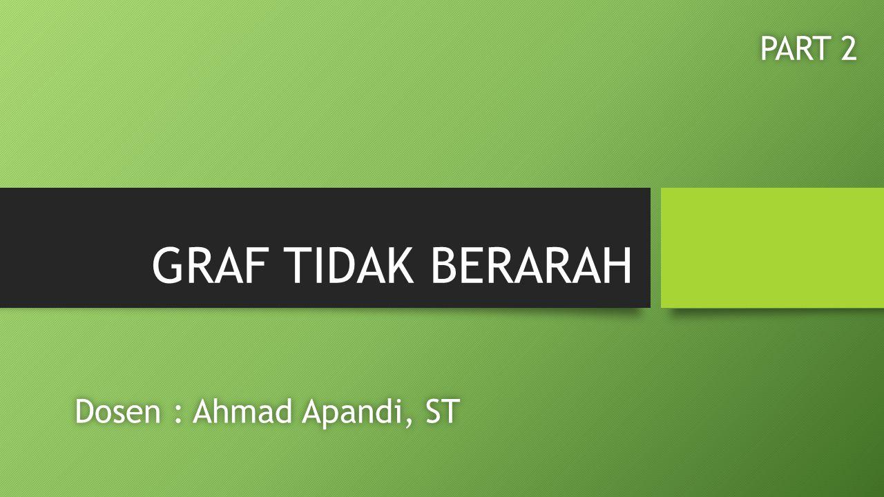 GRAF TIDAK BERARAH PART 2 Dosen : Ahmad Apandi, ST