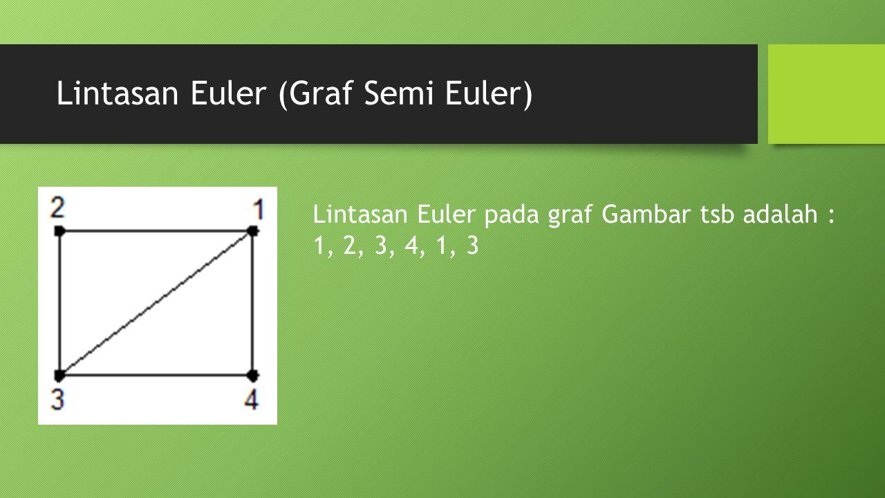Lintasan Euler (Graf Semi Euler)