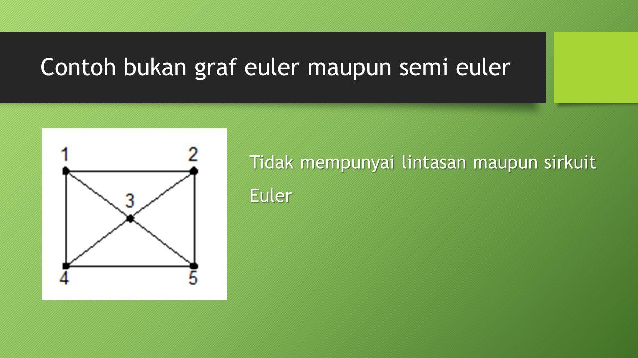 Contoh bukan graf euler maupun semi euler