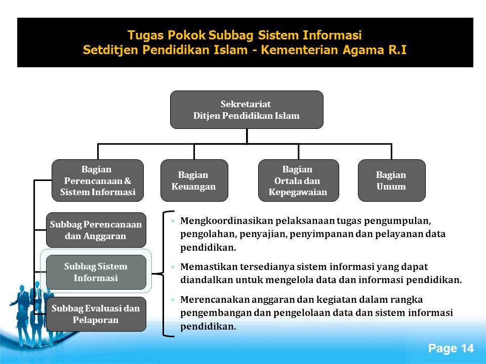 Tugas Pokok Subbag Sistem Informasi