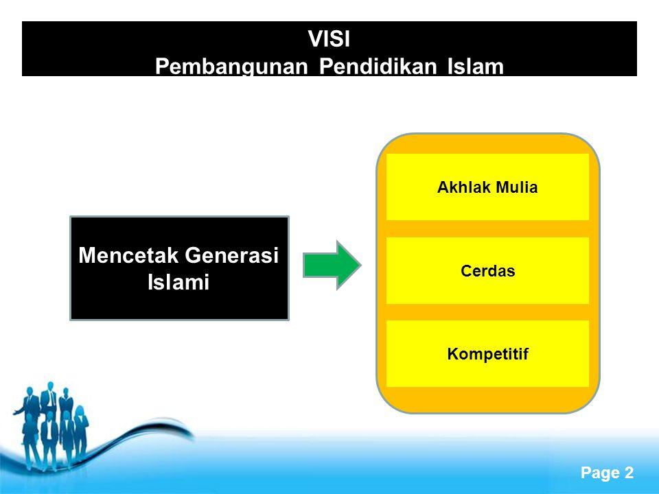 VISI Pembangunan Pendidikan Islam