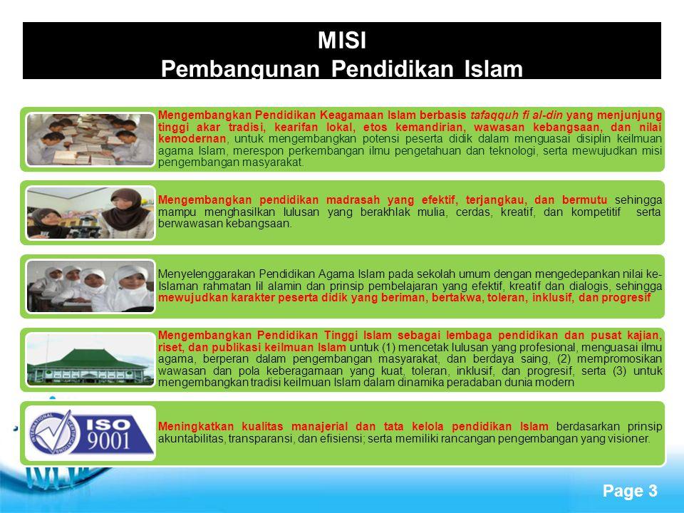 MISI Pembangunan Pendidikan Islam