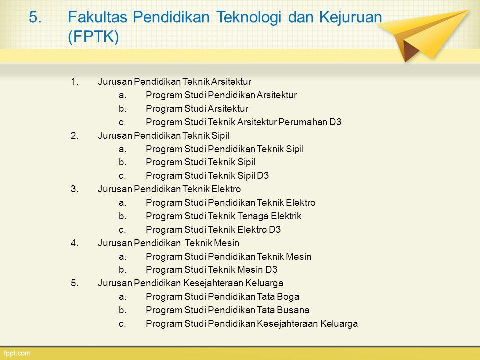 Fakultas Pendidikan Teknologi dan Kejuruan (FPTK)