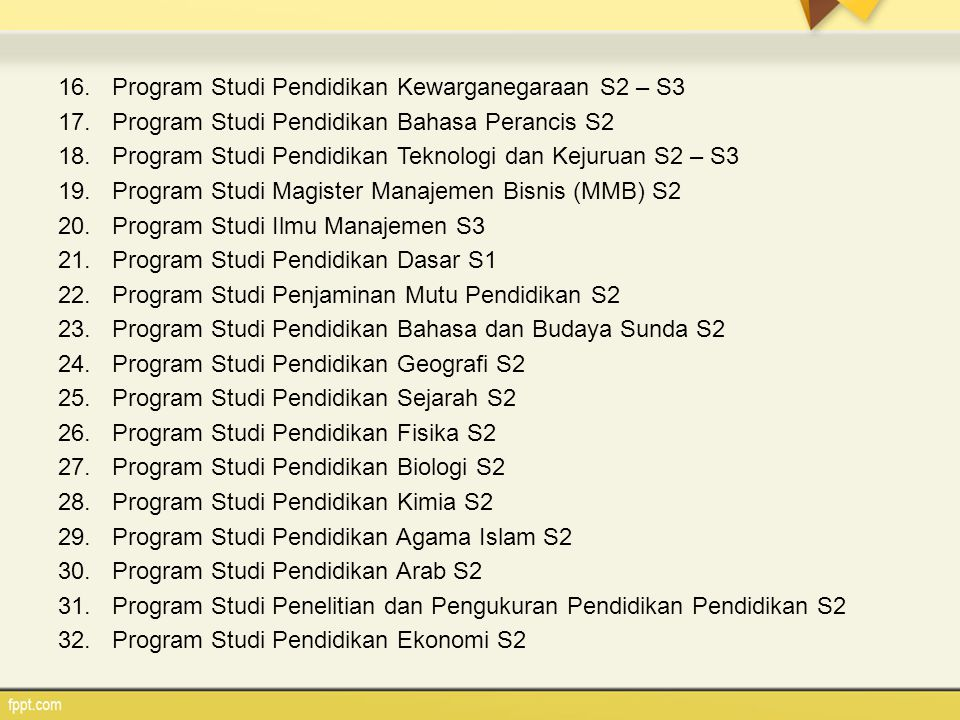 Program Studi Pendidikan Kewarganegaraan S2 – S3