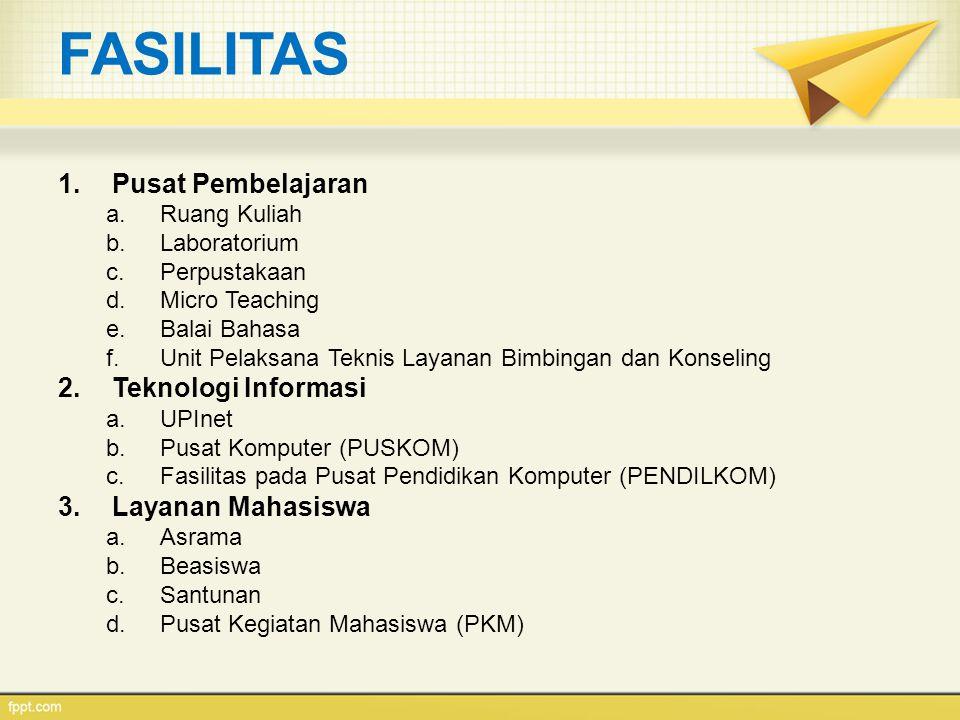 FASILITAS Pusat Pembelajaran Teknologi Informasi Layanan Mahasiswa