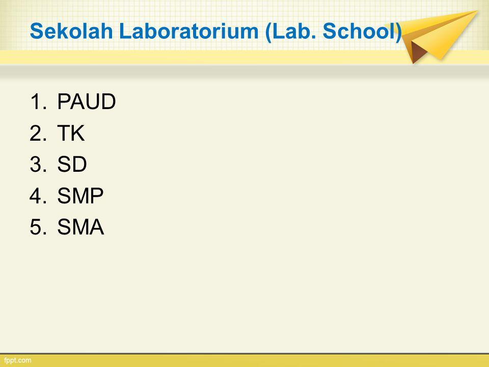 Sekolah Laboratorium (Lab. School)