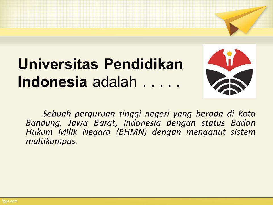 Universitas Pendidikan Indonesia adalah . . . . .