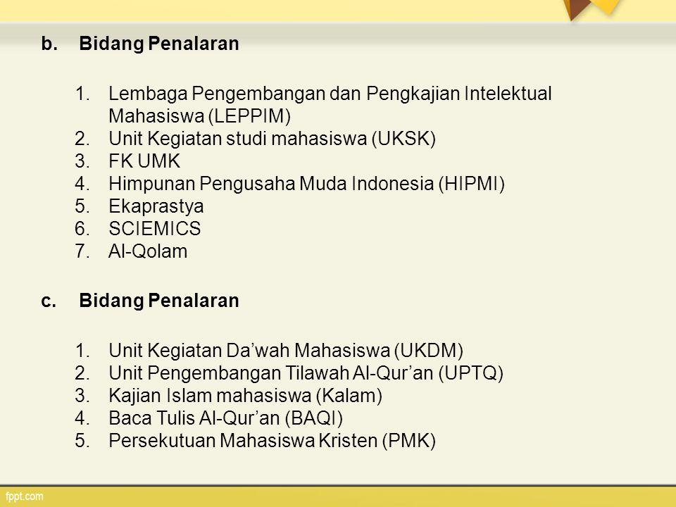 Bidang Penalaran Lembaga Pengembangan dan Pengkajian Intelektual Mahasiswa (LEPPIM) Unit Kegiatan studi mahasiswa (UKSK)