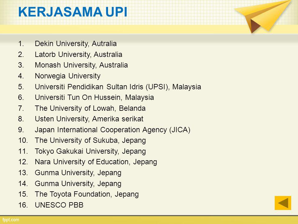 KERJASAMA UPI Dekin University, Autralia Latorb University, Australia