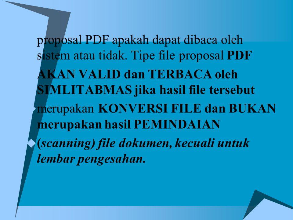 proposal PDF apakah dapat dibaca oleh sistem atau tidak